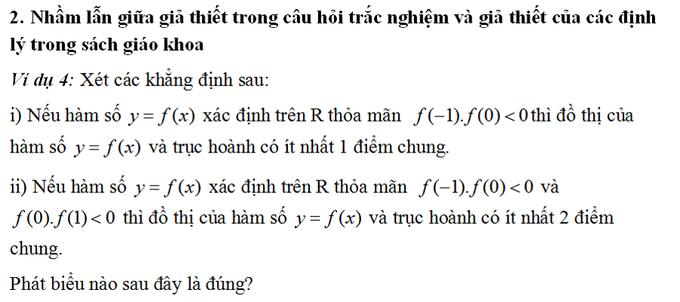 8 sai lầm trong giải Toán trắc nghiệm THPTQG